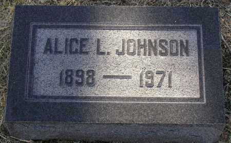 JOHNSON, ALICE L. - Yavapai County, Arizona | ALICE L. JOHNSON - Arizona Gravestone Photos