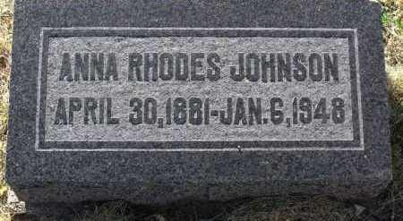RHODES JOHNSON, ANNA - Yavapai County, Arizona | ANNA RHODES JOHNSON - Arizona Gravestone Photos