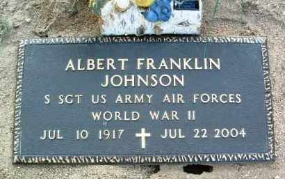 JOHNSON, ALBERT FRANKLIN - Yavapai County, Arizona | ALBERT FRANKLIN JOHNSON - Arizona Gravestone Photos