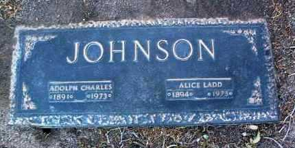 JOHNSON, ALICE LADD - Yavapai County, Arizona | ALICE LADD JOHNSON - Arizona Gravestone Photos