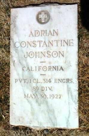 JOHNSON, ADRIAN CONSTANTINE - Yavapai County, Arizona | ADRIAN CONSTANTINE JOHNSON - Arizona Gravestone Photos
