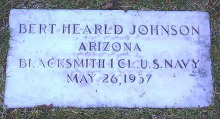 JOHNSON, BERT HEARLD - Yavapai County, Arizona   BERT HEARLD JOHNSON - Arizona Gravestone Photos