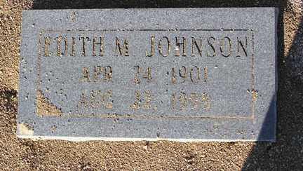 JOHNSON, EDITH MAE - Yavapai County, Arizona | EDITH MAE JOHNSON - Arizona Gravestone Photos