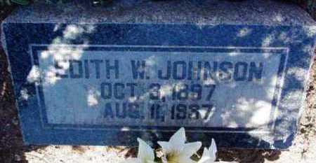 JOHNSON, EDITH W. - Yavapai County, Arizona | EDITH W. JOHNSON - Arizona Gravestone Photos