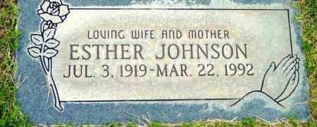 JOHNSON, ESTHER - Yavapai County, Arizona | ESTHER JOHNSON - Arizona Gravestone Photos