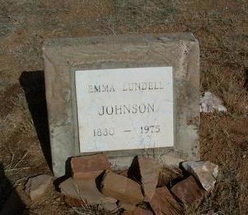 LUNDELL JOHNSON, EMMA - Yavapai County, Arizona   EMMA LUNDELL JOHNSON - Arizona Gravestone Photos