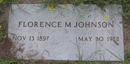 JOHNSON, FLORENCE M. - Yavapai County, Arizona | FLORENCE M. JOHNSON - Arizona Gravestone Photos