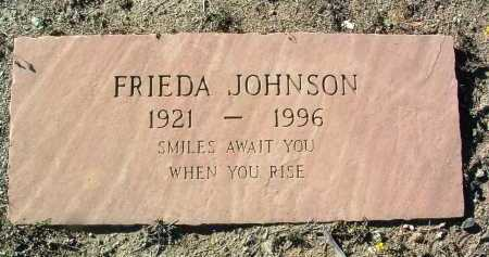 JOHNSON, FRIEDA F. - Yavapai County, Arizona   FRIEDA F. JOHNSON - Arizona Gravestone Photos