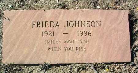 JOHNSON, FRIEDA F. - Yavapai County, Arizona | FRIEDA F. JOHNSON - Arizona Gravestone Photos
