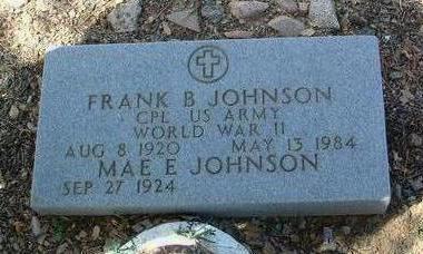 JOHNSON, FRANK BURR - Yavapai County, Arizona | FRANK BURR JOHNSON - Arizona Gravestone Photos