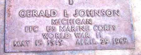 JOHNSON, GERALD L. - Yavapai County, Arizona   GERALD L. JOHNSON - Arizona Gravestone Photos
