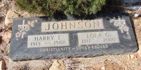 JOHNSON, LOLA G. - Yavapai County, Arizona | LOLA G. JOHNSON - Arizona Gravestone Photos