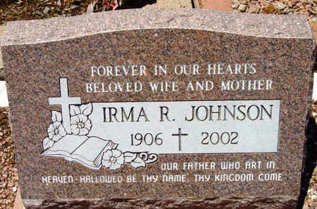 JOHNSON, IRMA RUTH - Yavapai County, Arizona | IRMA RUTH JOHNSON - Arizona Gravestone Photos
