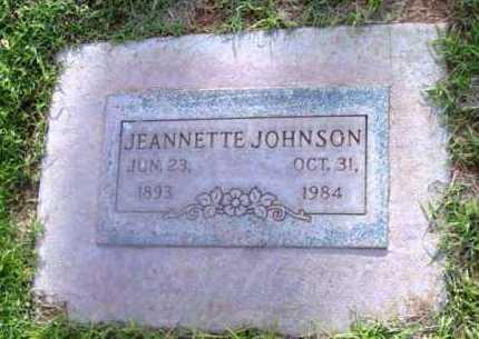 JOHNSON, JEANNETTE - Yavapai County, Arizona   JEANNETTE JOHNSON - Arizona Gravestone Photos