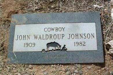 JOHNSON, JOHN WALDROUP - Yavapai County, Arizona   JOHN WALDROUP JOHNSON - Arizona Gravestone Photos