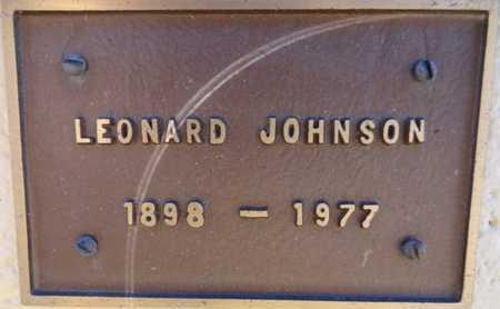 JOHNSON, LEONARD - Yavapai County, Arizona   LEONARD JOHNSON - Arizona Gravestone Photos