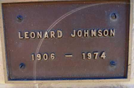 JOHNSON, LEONARD - Yavapai County, Arizona | LEONARD JOHNSON - Arizona Gravestone Photos