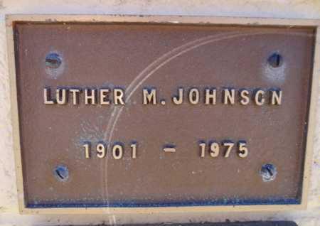 JOHNSON, LUTHER M - Yavapai County, Arizona   LUTHER M JOHNSON - Arizona Gravestone Photos