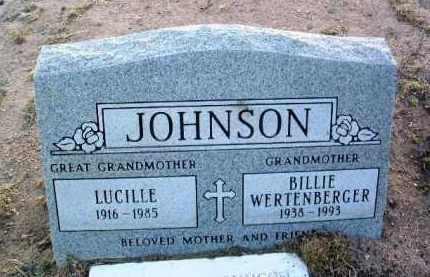 JOHNSON, LUCILLE ERMA - Yavapai County, Arizona   LUCILLE ERMA JOHNSON - Arizona Gravestone Photos