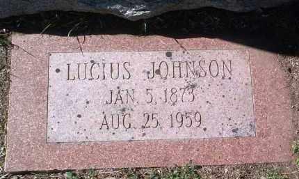 JOHNSON, LUCIUS - Yavapai County, Arizona | LUCIUS JOHNSON - Arizona Gravestone Photos
