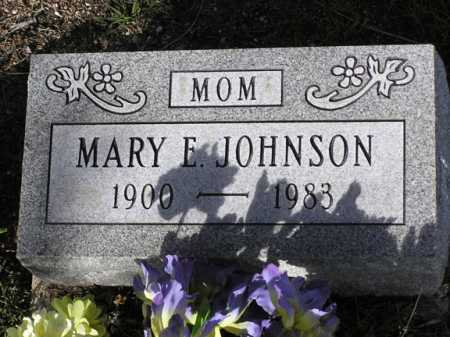 JOHNSON, MARY E. - Yavapai County, Arizona | MARY E. JOHNSON - Arizona Gravestone Photos