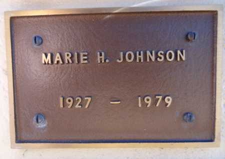 JOHNSON, MARIE H. - Yavapai County, Arizona | MARIE H. JOHNSON - Arizona Gravestone Photos