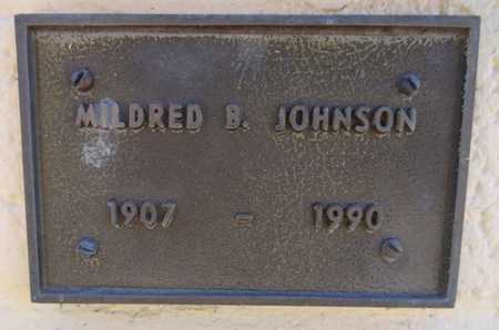 JOHNSON, MILDRED B. - Yavapai County, Arizona | MILDRED B. JOHNSON - Arizona Gravestone Photos