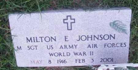 JOHNSON, MILTON E. - Yavapai County, Arizona | MILTON E. JOHNSON - Arizona Gravestone Photos