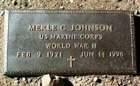 JOHNSON, MERLE C. - Yavapai County, Arizona | MERLE C. JOHNSON - Arizona Gravestone Photos