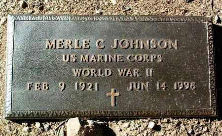 JOHNSON, MERLE CLYDE - Yavapai County, Arizona   MERLE CLYDE JOHNSON - Arizona Gravestone Photos