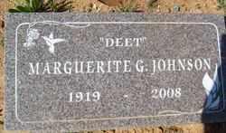 JOHNSON, MAGUERITE G. - Yavapai County, Arizona | MAGUERITE G. JOHNSON - Arizona Gravestone Photos