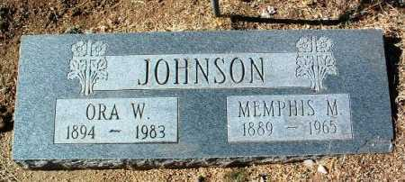 JOHNSON, ORA W. - Yavapai County, Arizona | ORA W. JOHNSON - Arizona Gravestone Photos