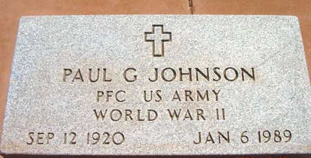 JOHNSON, PAUL G. - Yavapai County, Arizona | PAUL G. JOHNSON - Arizona Gravestone Photos
