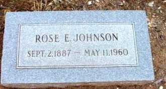 JOHNSON, ROSE E. - Yavapai County, Arizona   ROSE E. JOHNSON - Arizona Gravestone Photos