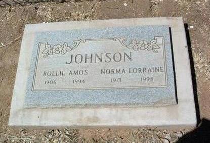 JOHNSON, ROLLIE AMOS - Yavapai County, Arizona | ROLLIE AMOS JOHNSON - Arizona Gravestone Photos