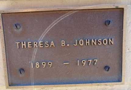 JOHNSON, THERESA B - Yavapai County, Arizona | THERESA B JOHNSON - Arizona Gravestone Photos