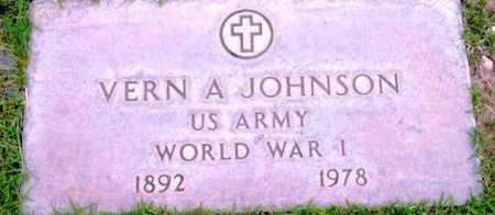 JOHNSON, VERN A. - Yavapai County, Arizona | VERN A. JOHNSON - Arizona Gravestone Photos