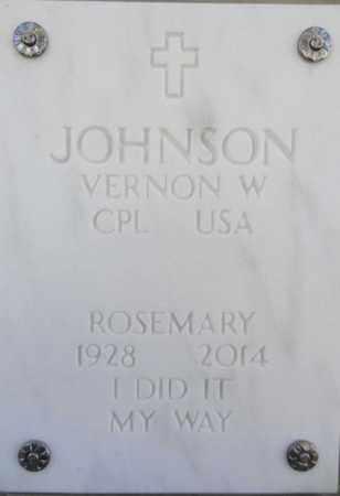 JOHNSON, VERNON WILFRED - Yavapai County, Arizona   VERNON WILFRED JOHNSON - Arizona Gravestone Photos