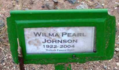JOHNSON, WILMA PEARL - Yavapai County, Arizona | WILMA PEARL JOHNSON - Arizona Gravestone Photos