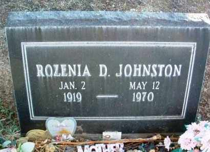 JOHNSTON, ROZENIA D. - Yavapai County, Arizona | ROZENIA D. JOHNSTON - Arizona Gravestone Photos