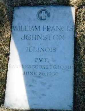 JOHNSTON, WILLIAM FRANCIS - Yavapai County, Arizona   WILLIAM FRANCIS JOHNSTON - Arizona Gravestone Photos