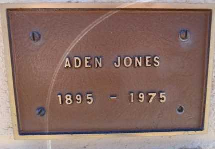 JONES, ADEN - Yavapai County, Arizona | ADEN JONES - Arizona Gravestone Photos