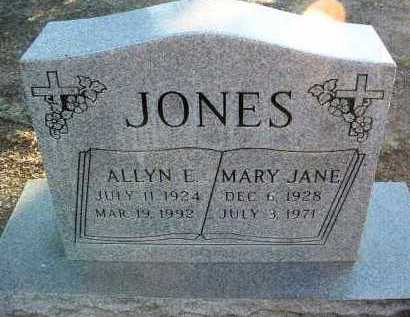 JONES, ALLYN EDMUND - Yavapai County, Arizona | ALLYN EDMUND JONES - Arizona Gravestone Photos