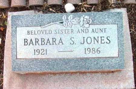 JONES, BARBARA S. - Yavapai County, Arizona | BARBARA S. JONES - Arizona Gravestone Photos