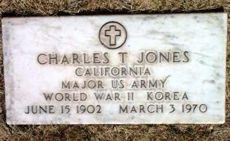 JONES, CHARLES T. - Yavapai County, Arizona   CHARLES T. JONES - Arizona Gravestone Photos