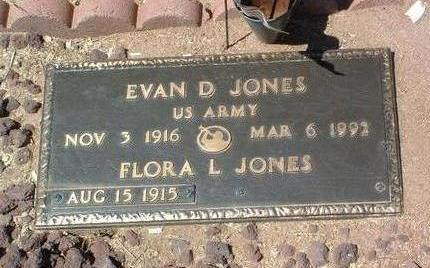 JONES, EVAN DAVIS - Yavapai County, Arizona | EVAN DAVIS JONES - Arizona Gravestone Photos
