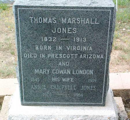 LONDON JONES, MARY COWAN - Yavapai County, Arizona | MARY COWAN LONDON JONES - Arizona Gravestone Photos
