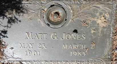 JONES, MATT G. - Yavapai County, Arizona | MATT G. JONES - Arizona Gravestone Photos
