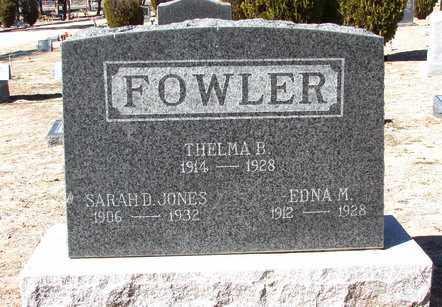 FOWLER JONES, SARAH D. - Yavapai County, Arizona | SARAH D. FOWLER JONES - Arizona Gravestone Photos