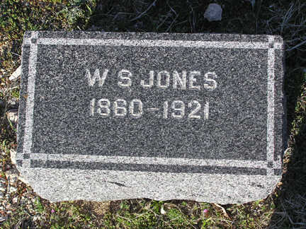 JONES, W. S. - Yavapai County, Arizona   W. S. JONES - Arizona Gravestone Photos